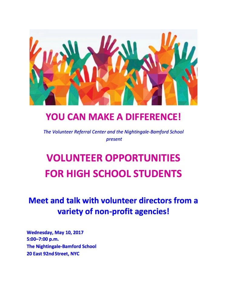 Volunteer Referral Center FAIR flyer